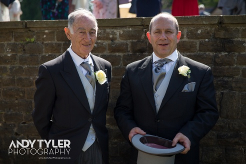 The father and grandfather of the bride