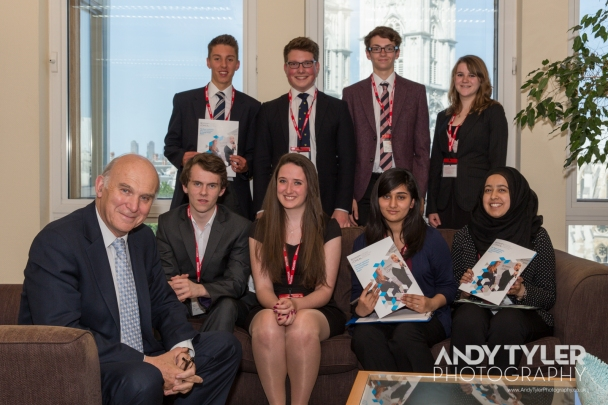 L'Oreal Young Scientists Meet Vince Cable