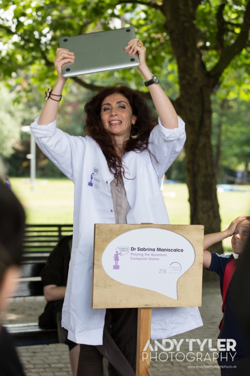 Dr Sabrina Maniscalco at Soapbox Science