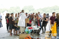Dr Cath Waller at Soapbox Science