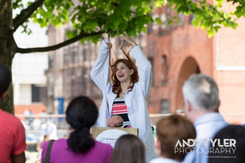 Dr Emily Cross at Soapbox Science