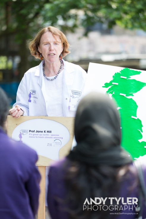 Prof Jane K Hill at Soapbox Science